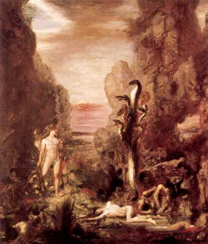 Ηρακλής και Λερναία Ύδρα, πίνακας του Γάλλου ζωγράφου Gustave Moreau (1826 - 1898)