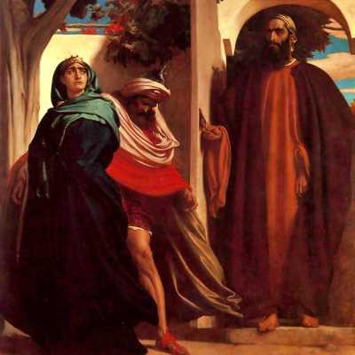 """""""Ιεζάβελ και Αχαάβ"""", πίνακας του Άγγλου ζωγράφου Frederic Leighton (1830 - 1896)"""