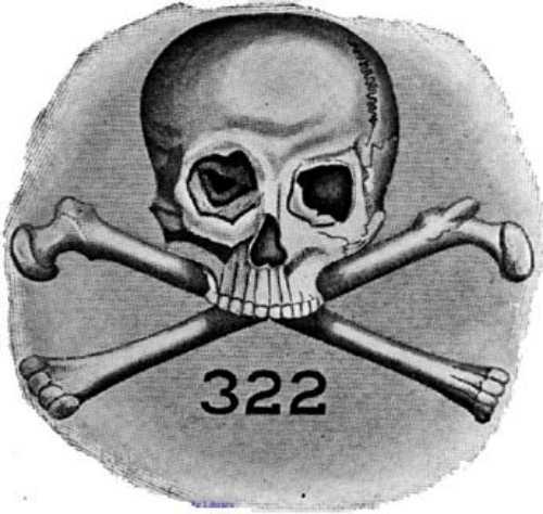 Το έμβλημα της μυστικής αδελφότητας Skull and Bones