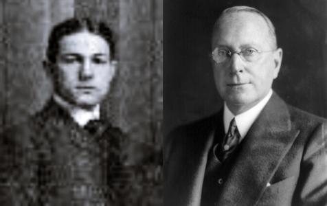 Αριστερά ο Ashley Day Leavitt (1877 - 1959) και δεξιά ο Percy Avery Rockefeller (1878 - 1934)