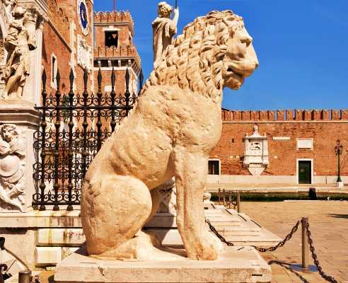 Το Λιοντάρι του Πειραιά στον ναύσταθμο της Βενετίας