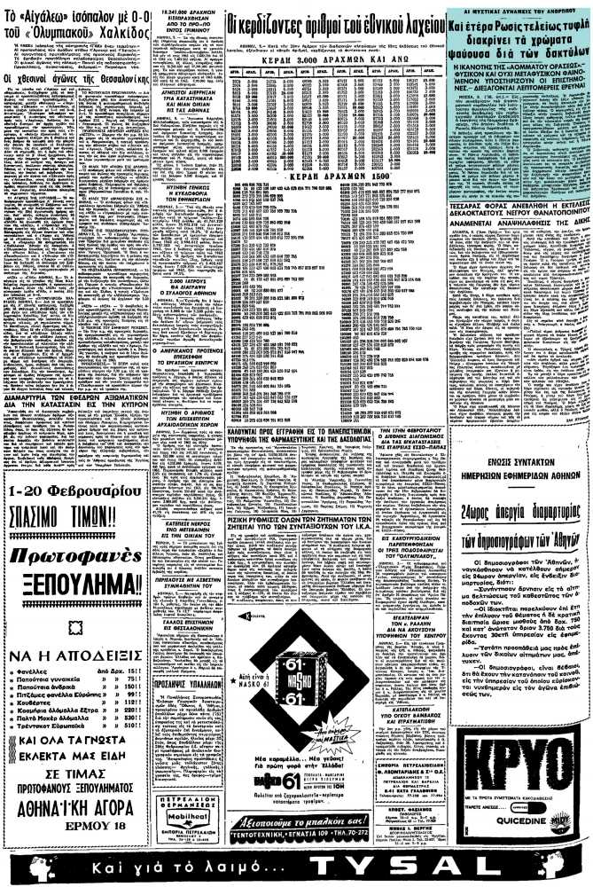 """Το άρθρο, όπως δημοσιεύθηκε στην εφημερίδα """"ΜΑΚΕΔΟΝΙΑ"""", στις 06/02/1964"""