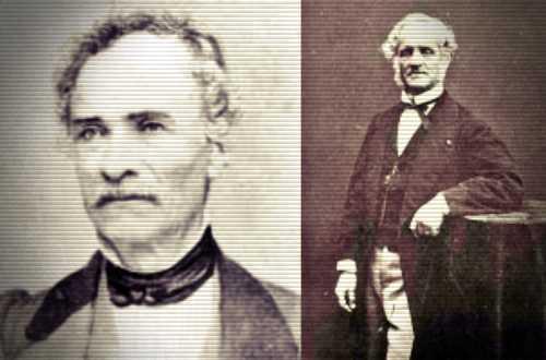 Αριστερά ο Κυριακός Πιττάκης (1798 - 1863) και δεξιά ο Αλέξανδρος Ρίζος Ραγκαβής (1809 - 1892)