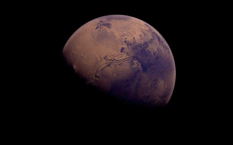 Το μυστηριώδες κυανό φως του Άρη...