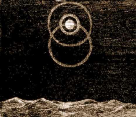 Το φαινόμενο, σε σκίτσο της εποχής, στο οποίο φαίνεται η Σελήνη