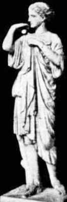 Η Αφροδίτη, περιβάλλοντας με χάρη το σώμα της ύστερα από το λουτρό και κρατώντας στο αριστερό της χέρι το μήλο, σύμβολο του έρωτα (Μουσείο του Λούβρου)