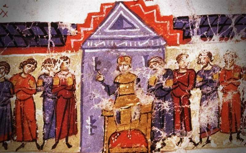 Ο ακόλαστος Αυτοκράτορας του Βυζαντίου Μιχαήλ ο Μέθυσος και οι γελωτοποιοί του...