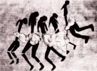 """Ο """"χορός των πέντε Δερβισών"""", όπως ονομάστηκε η συγκεκριμένη βραχογραφία της Σαχάρας"""