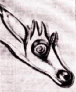 Κεφαλή καμηλοπάρδαλης - αντίγραφο βραχογραφίας