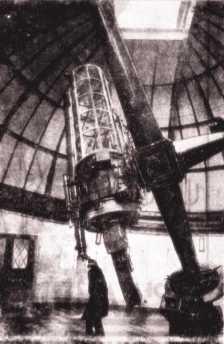 Το τηλεσκόπιο φακού 36 ιντσών του Αστεροσκοπείου του Γκρήνουιτς, το 1935
