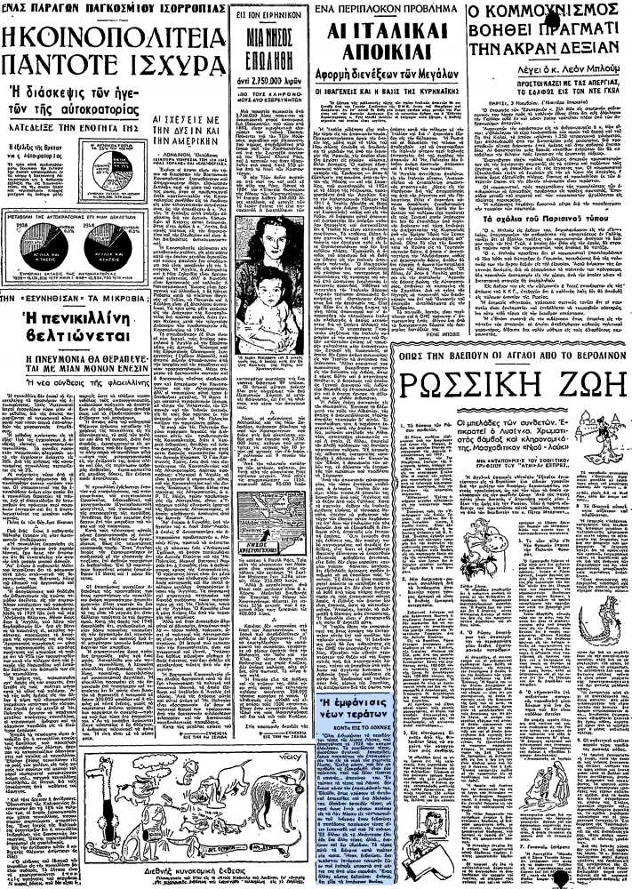 """Το άρθρο, όπως δημοσιεύθηκε στην εφημερίδα """"ΕΛΕΥΘΕΡΙΑ"""", στις 04/11/1948"""