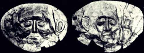 Οι περίφημες χρυσές μάσκες των βασιλέων των Μυκηνών