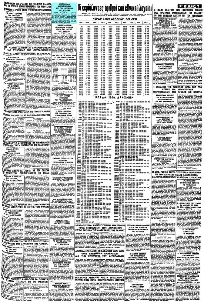 """Το άρθρο, όπως δημοσιεύθηκε στην εφημερίδα """"ΜΑΚΕΔΟΝΙΑ"""", στις 25/08/1965"""