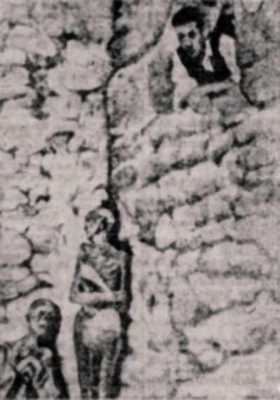 Φωτογραφία της υπόγειας ειρκτής που ανακαλύφθηκε το 1931