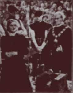 Η σκηνή της εκτέλεσης της Jane Grey, όπως αποδόθηκε στην κινηματογραφική ταινία